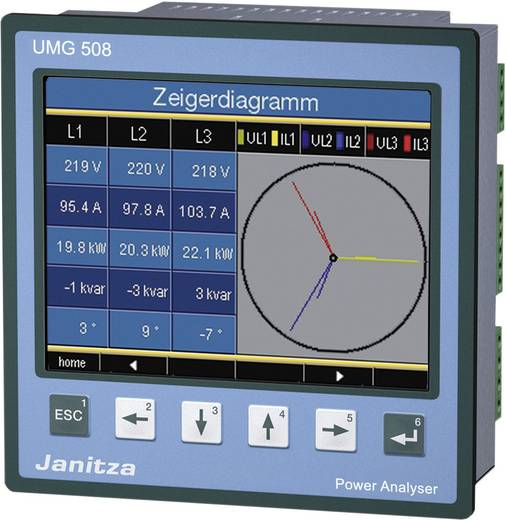 Janitza UMG 508 Netz-Analysegerät, Netzanalysator, 5221001