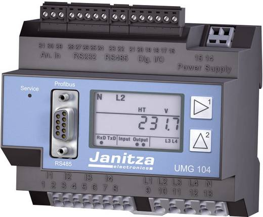 Janitza UMG 104 Netz-Analysegerät, Netzanalysator, 52.20.201 CAT III 300 V