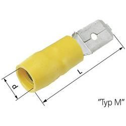 Faston konektor zástrčka LAPP 63103040 6.3 mm x 0.8 mm, 180 °, čiastočne izolované, žltá, 50 ks