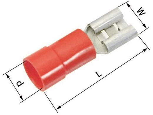 Flachsteckhülse Steckbreite: 4.8 mm Steckdicke: 0.5 mm 180 ° Teilisoliert Rot LappKabel 63101030 100 St.