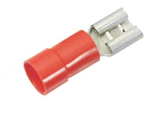 Flachsteckhülse Steckbreite: 6.3 mm Steckdicke: 0.8 mm 180 ° Teilisoliert Rot LappKabel 63101050 100 St.