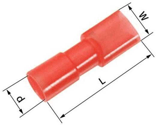 Flachsteckhülse Steckbreite: 6.3 mm Steckdicke: 0.8 mm 180 ° Vollisoliert Rot LappKabel 61794960 100 St.