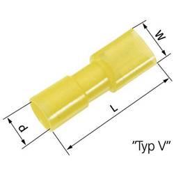 Faston konektor zásuvka LAPP 61794971 6.3 mm x 0.8 mm, 180 °, úplne izolované, žltá, 50 ks