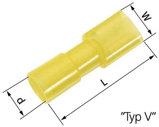 Flachsteckhülse Steckbreite: 6.3 mm Steckdicke: 0.8 mm 180 ° Vollisoliert Gelb LappKabel 61794971 50 St.