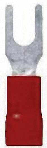 Gabelkabelschuh 0.50 mm² 1.50 mm² Loch-Ø=6.5 mm Teilisoliert Rot LappKabel 63105070 100 St.