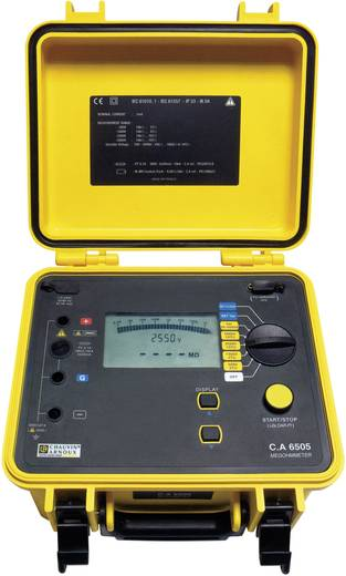 Chauvin Arnoux C.A 6505 Isolationsmessgerät 40 V, 5100 V 10 TΩ