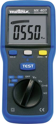 Metrix MX407 Isolationsmessgerät 250 V, 500 V, 1000 V 4 GΩ