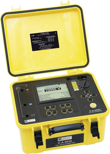 Isolationsmessgerät Chauvin Arnoux C.A 6550 40 - 10000 V 10 kΩ - 25 TΩ