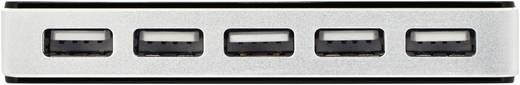10 Port USB 2.0-Hub Digitus DA-70229 Schwarz/Silber