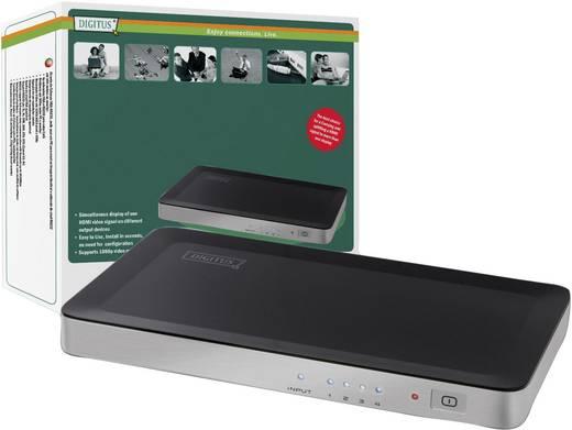 4 Port HDMI-Splitter Digitus DS-42300 3D-Wiedergabe möglich 1920 x 1080 pix (Full HD) Schwarz, Silber