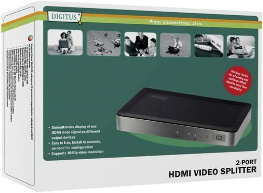 2 Port HDMI-Splitter Digitus DS-41300 3D-Wiedergabe möglich 1920 x 1080 Pixel Schwarz, Silber