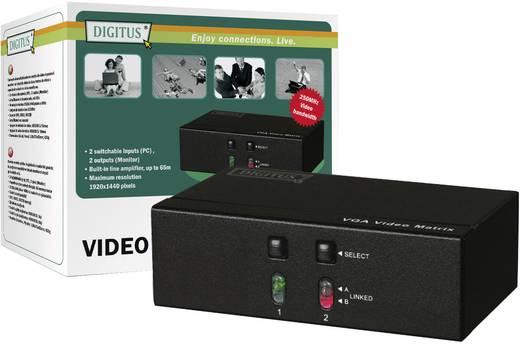 2 Port VGA-Matrix-Splitter Digitus DS-47110-1 1920 x 1440 Pixel Schwarz