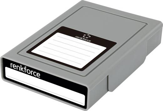 Universal Festplatten-Aufbewahrungsbox Renkforce HY-EB-8500 Grau