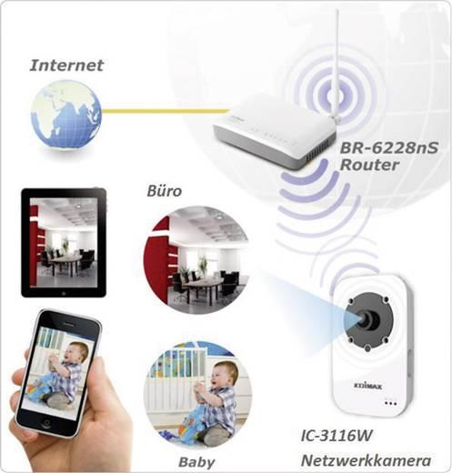 WLAN, LAN IP Kamera 1280 x 720 Pixel 2,2 mm EDIMAX IC-3116W