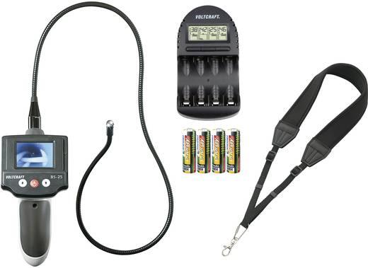 Vorteilsset VOLTCRAFT BS-25 Hand-Endoskop mit Tragegurt, Akkus und Ladegerät