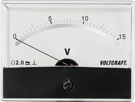 Analoges Einbaumessgerät VOLTCRAFT AM-86X65/15V/DC