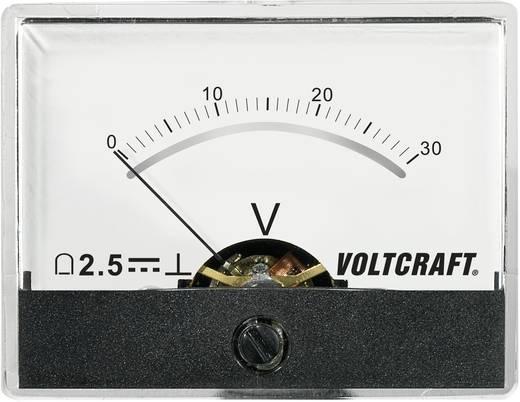 Analoges Einbaumessgerät VOLTCRAFT AM-60X46/30V/DC 30 V
