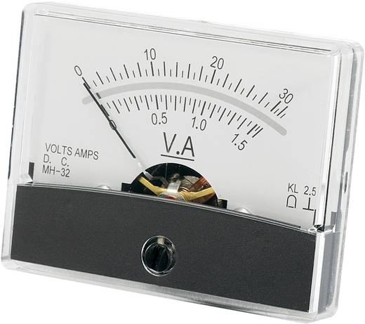 Analoges Einbaumessgerät VOLTCRAFT AM-60X46/30V/1,5A/DC 30 V/1.5 A Drehspule