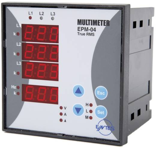 ENTES EPM-04C-96 Programmierbares 3-Phasen Einbau-AC-Multimeter EPM-04C-96 Spannung, Strom, Frequenz, Betriebsstunden, Gesamtstunden