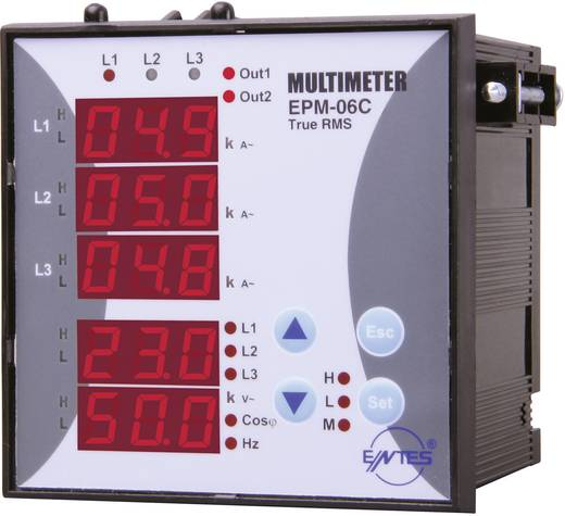 ENTES EPM-06C-96 Programmierbares 3-Phasen Einbau-AC-Multimeter EPM-06C-96 Spannung, Strom, Frequenz, Betriebsstunden, G
