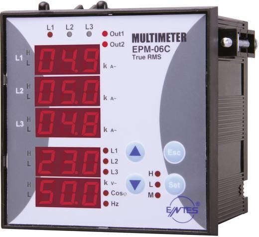 ENTES EPM-06C-96 Programmierbares 3-Phasen Einbau-AC-Multimeter EPM-06C-96 Spannung, Strom, Frequenz, Betriebsstunden, Gesamtstunden