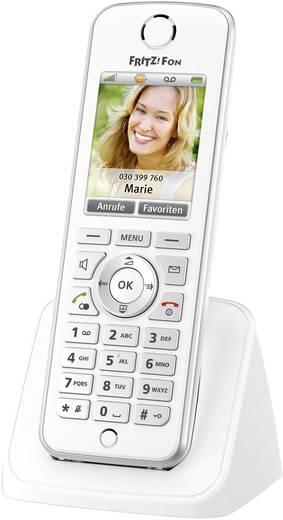 Schnurloses Telefon VoIP AVM FRITZ!Fon C4 für FRITZ!Box Freisprechen, Headsetanschluss Farbdisplay Weiß, Silber