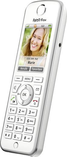 AVM FRITZ!Fon C4 für FRITZ!Box Schnurloses Telefon VoIP Freisprechen, Headsetanschluss Farbdisplay Weiß, Silber