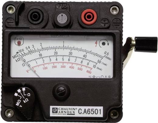 Chauvin Arnoux CA 6501 Isolationsmessgerät, Kurbelinduktor-Messgerät, Messbereich 200 MΩ ,500 V/DC, CAT II 600 V, CAT II