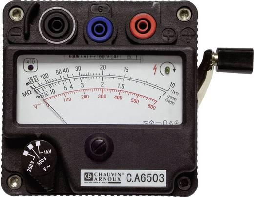 Chauvin Arnoux C.A 6503 Isolationsmessgerät, Kurbelinduktor-Messgerät, Messbereich 5000 MΩ ,250/500/1000 V/DC, CAT II 60