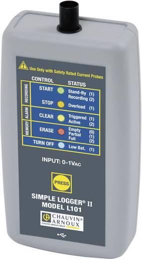Chauvin Arnoux L101 Spannungs-Datenlogger Messgröße Spannung 0 bis 1 V/AC Kalibriert nach Werksstandard (ohne Ze