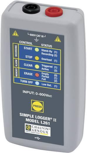 Chauvin Arnoux L261 Spannungs-Datenlogger Messgröße Spannung 0 bis 600, 600 V/AC, V/DC Kalibriert nach Werksstan