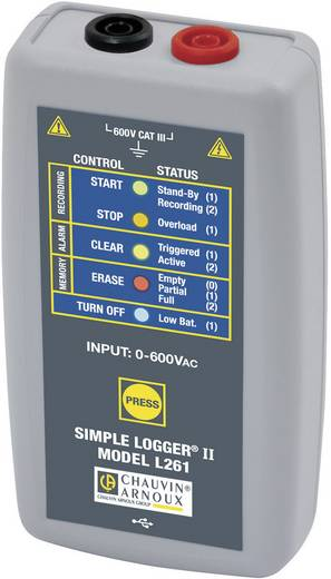 Spannungs-Datenlogger Chauvin Arnoux L261 Messgröße Spannung 0 bis 600, 600 V/AC, V/DC Kalibriert nach Werksstan