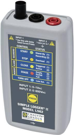 Chauvin Arnoux L562 Spannungs-Datenlogger Messgröße Spannung 0, 0 bis 600, 600 V/AC, V/DC Kalibriert nach Werkss