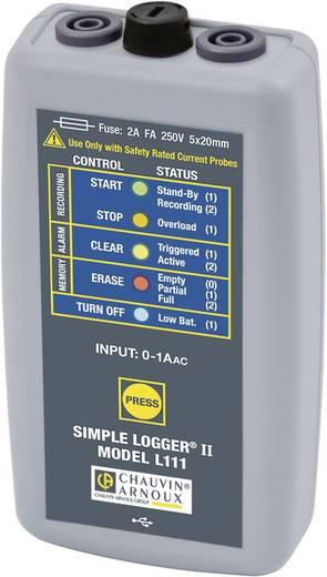 Strom-Datenlogger Chauvin Arnoux L111 Messgröße Strom 0 bis 1000 mA Kalibriert nach Werksstandard (ohne Zertifik