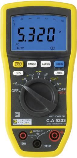 Hand-Multimeter digital Chauvin Arnoux C.A 5233 Kalibriert nach: Werksstandard (ohne Zertifikat) CAT IV 600 V Anzeige (