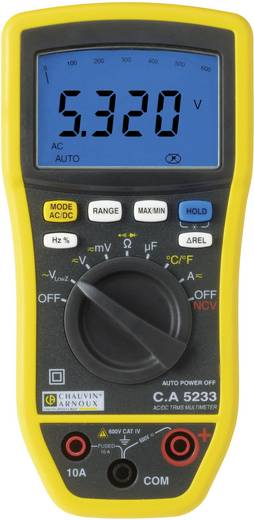 Hand-Multimeter digital Chauvin Arnoux CA5233 Kalibriert nach: DAkkS CAT IV 600 V Anzeige (Counts): 6000