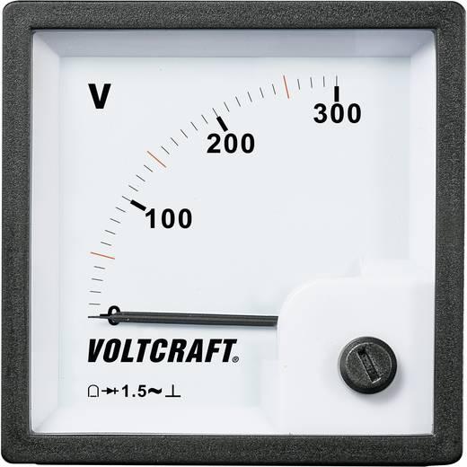 VOLTCRAFT AM-72x72/300V Analog-Einbaumessgerät AM-72x72/300V 300 V Drehspule