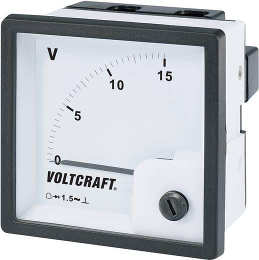 Analoges Einbaumessgerät VOLTCRAFT AM-72x72/15V 15 V