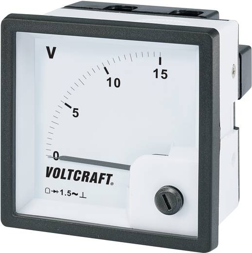 VOLTCRAFT AM-72x72/15V Analog-Einbaumessgerät AM-72x72/15V 15 V