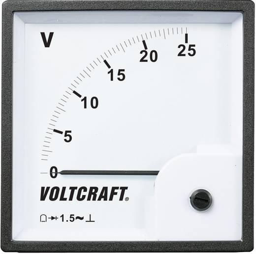 Analoges Einbaumessgerät VOLTCRAFT AM-96x96/25V