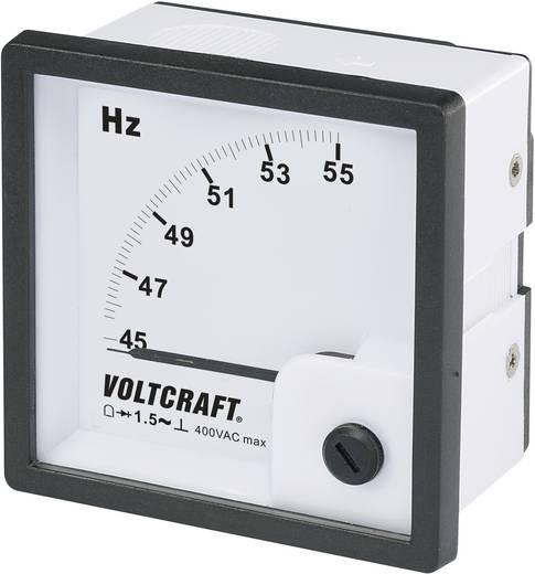 Analoges Einbaumessgerät VOLTCRAFT AM-72X72/50HZ 45 - 55 Hz