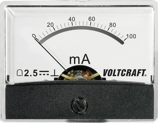 VOLTCRAFT AM-60X46/100MA/DC Einbau-Messgerät AM-60X46/100mA/DC 100 mA Drehspule