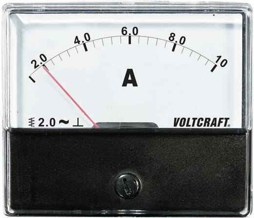 Analoges Einbaumessgerät VOLTCRAFT AM-70X60/10A 10 A Dreheisen