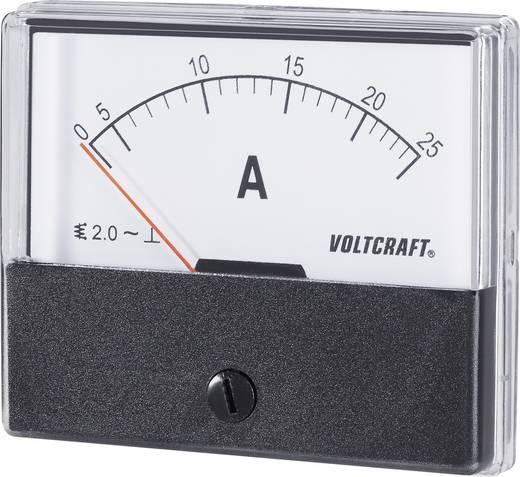 VOLTCRAFT AM-70X60/25 A Einbau-Messgerät AM-70X60/25A 25 A Dreheisen