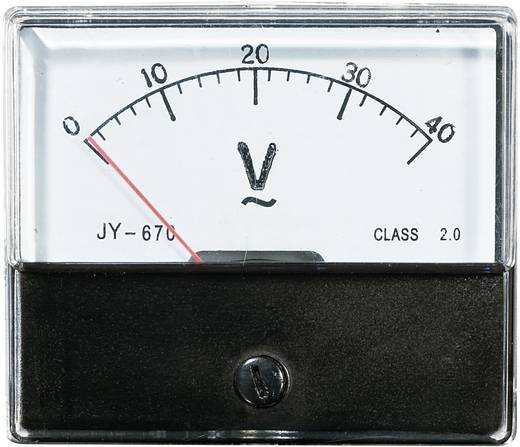 VOLTCRAFT AM-70X60/40V Einbau-Messgerät AM-70X60/40V 40 V Dreheisen