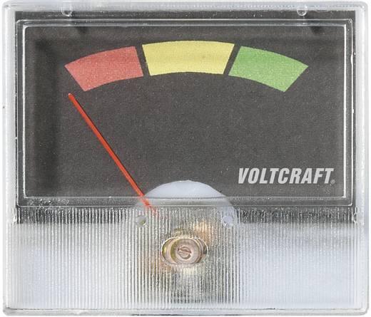 Analoges Einbaumessgerät VOLTCRAFT AM-49X27 Ampel (Rot/Gelb/Grün)