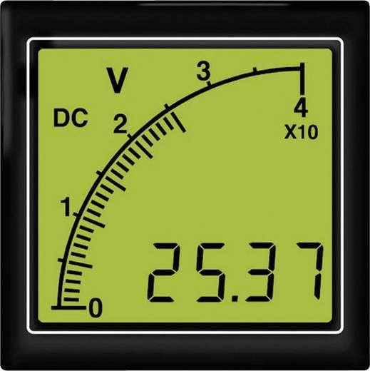 Trumeter APMDCV72-TG APMDCV72-TG DC Voltmeter mit Bargraphanzeige, Hintergrundbeleuchtung grün, 6 – 300 V/DC Einbaumaße