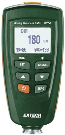 Extech CG204 Schichtdicken-Messgerät, Lackschichtmessung von eisenhaltigen Metallen und Aluminium, 0 - 1250 µm/0 - 49 mils