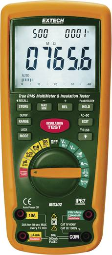 Hand-Multimeter digital Extech MG302 Kalibriert nach: Werksstandard Datenlogger, Wasserdicht (IP67) CAT III 1000 V, CAT IV 600 V Anzeige (Counts): 40000