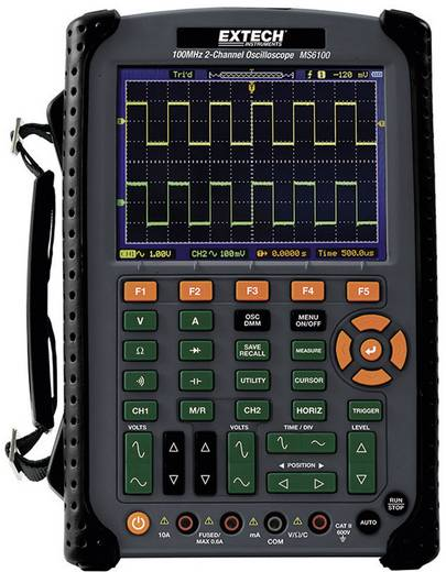 Hand-Oszilloskop (Scope-Meter) Extech MS6100 100 MHz 2-Kanal 500 MSa/s 512 kpts 8 Bit Digital-Speicher (DSO), Multimeter-Funktionen